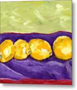 Lemon Party Metal Print