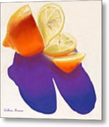 Lemon Slice Metal Print