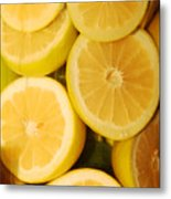 Lemon Still Life Metal Print