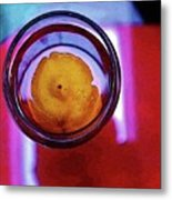 Lemonade In Red Metal Print