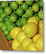Lemons And Limes At Market Metal Print