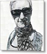 Lena Noble, Portrait Metal Print