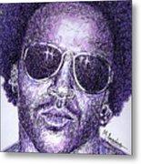 Lenny Kravitz Metal Print by Maria Arango