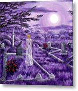 Lenore In Lavender Moonlight Metal Print