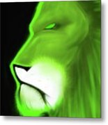 Leo Profile- Lime Metal Print