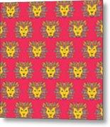 Leo Zodiac Sign Pattern Metal Print