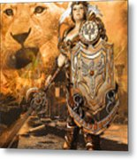 Leona Lioness Warrior  Metal Print