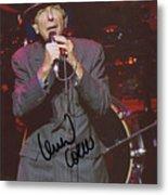 Leonard Cohen Autographed Metal Print
