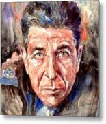 Leonard Cohen Painting Metal Print