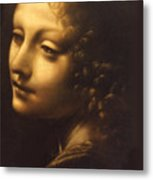 Leonardo- Angel From The Madonna Of The Rocks Metal Print
