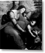 The Virgin And Chid With St. Anne Metal Print