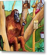 Leonardo The Orangutan Metal Print