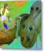 Leonidas And Soccer Shoes Metal Print