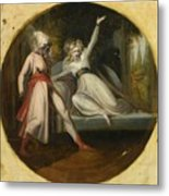 Leonore Discovering The Dagger Left By Alonzo Metal Print