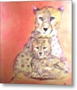 Leopard Love Metal Print