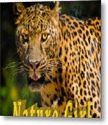 Leopard Nature Girl Metal Print