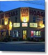 Leo's Steak Shop Metal Print