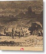 Les Anes De La Butte-aux-cailles (donkeys At La Butte-aux-cailles) Metal Print