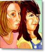 Les Meilleures Amies   Hanna And Yasmine Metal Print