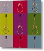 Les Paul Colorful Poster Metal Print