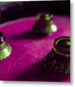 Les Paul Guitar Controls Series Metal Print