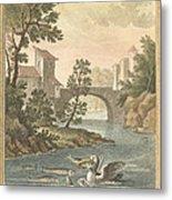 Les Poissons Et Le Cormoran (the Fish And Thecormorant) Metal Print