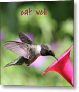 Lessons From Nature - Eat Well Metal Print
