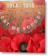 Lest We Forget - 1914-1918 Metal Print