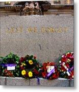 Lest We Forget War Memorial Martin Place Metal Print