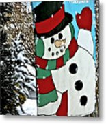 Let It Snow - Happy Holidays Metal Print