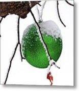 Let It Snow Christmas Ornament Metal Print