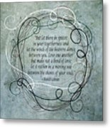 Let There Be Spaces Metal Print