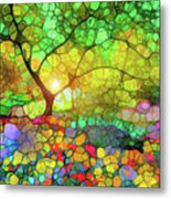 Let This Light Bring You Home Metal Print