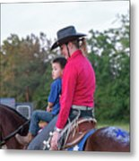 Let Your Babies Grow Up To Be Cowboys Metal Print