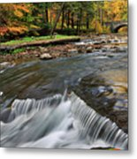 Letchworth Falls Sp Wolfe Creek Metal Print