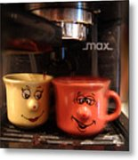 Let's Have A Coffee Metal Print