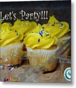 Let's Party Cupcakes Metal Print