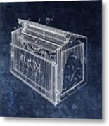 Letter Box Patent Metal Print