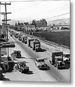 Lettuce Truck Armed Escorts Metal Print