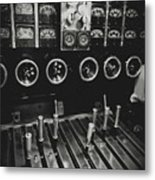 Levers And Gauges Metal Print