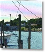 Lewes Canal Late Morning Metal Print