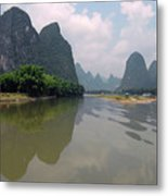 Li River At Xingping Metal Print