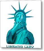 Liberated Lady 3 Metal Print
