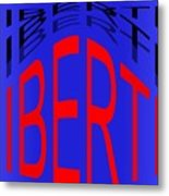 Liberte Metal Print