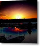 Liberty Bay Sunset Metal Print