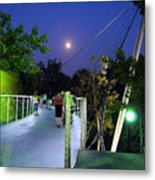 Liberty Bridge At Night Greenville South Carolina Metal Print