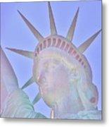 Liberty Glows Metal Print