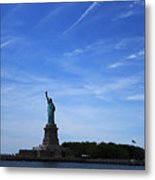 Liberty Island Statue Of Liberty Metal Print