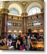 Library Of Congress, Main Reading Room, Jefferson Building - 2 Metal Print
