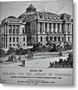 Library Of Congress Proposal 2 Metal Print